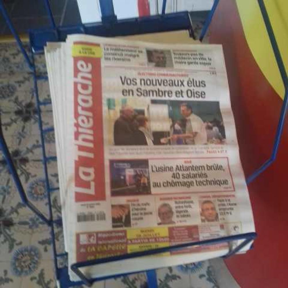 Vente de journaux à Oisy (Aisne)